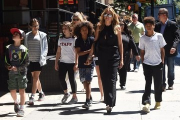 Johan Samuel Heidi Klum Steps Out in NYC With Children and Friends