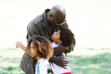 Johan Samuel Seal Watches His Kids Play Soccer
