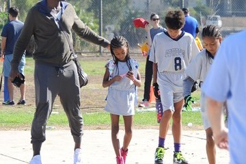 Johan Samuel Seal Hangs Out at His Son's Soccer Game in LA