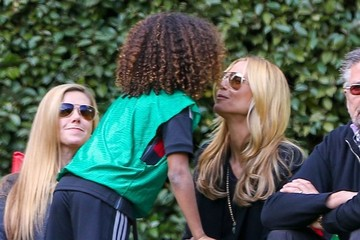 Johan Samuel Heidi Klum Watches Her Kids Play Soccer