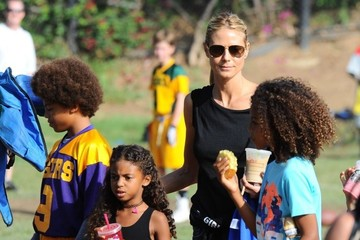 Johan Samuel Heidi Klum Goes out in Brentwood