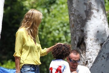 Johan Samuel Heidi Klum Cheers on Her Kids