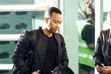 John Legend Luna Stephens Chrissy Teigen & John Legend Touch Down In Miami