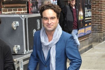 Johnny Galecki Celebs Visit the 'Late Show with David Letterman'