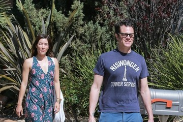 Johnny Knoxville Stars Head to a Birthday Party