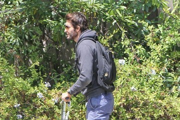 Jonathan LaPaglia Jonathan LaPaglia Out For A Scooter Ride