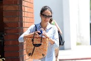 Jordana Brewster Lunches at Lemonade