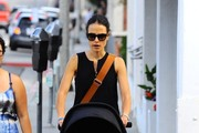 Jordana Brewster Running Errands With Her Son