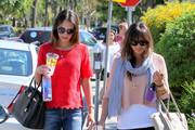 'Dallas' actress Jordan Brewster having lunch with her little sister Isabella Brewster at Lemonade in West Hollywood, California on August 28th, 2012. Isabella was recently dumped by comedian Russell Brand and replaced with Ginger Spice aka Geri Halliwell after the two met at the summer Olympics.