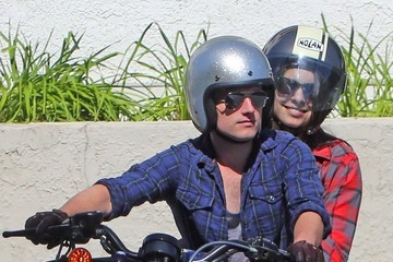 Josh Hutcherson Claudia Traisac Josh Hutcherson & Girlfriend Ride To Mendocino Farm