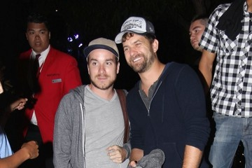 Joshua Jackson Celebrities Go To LA Kings Game
