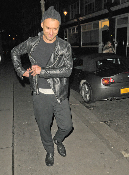 Jude Law Hits The Town With Lisa Moorish