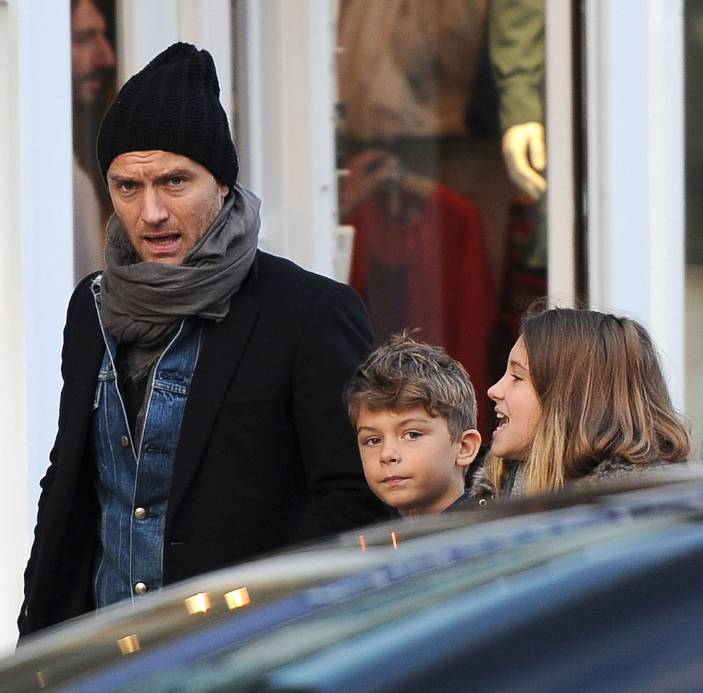 Jude Law Takes His Kids Out