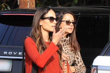Julian Form-Brewster Jordana Brewster Shops at the Farmer's Market With Her Family