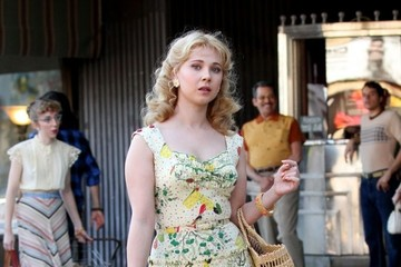 Juno Temple Stars Perform on the Set of Woody Allen's Upcoming Movie
