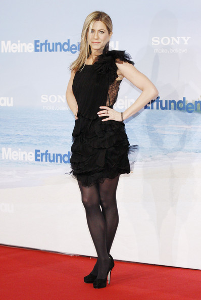 "Jennifer Aniston, Adam Sandler and Brooklyn Decker arrive at the ""Just Go With It"" Germany premiere in Berlin."