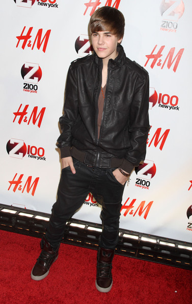 Justin Bieber Celebrities at Z100's Jingle Ball 2010 presented by H&M at Madison Square Garden in New York City, NY.