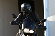 Justin Theroux Rides His Motorcycle in Los Angeles