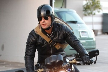 Justin Theroux Justin Theroux Spotted Out On His Motorcycle