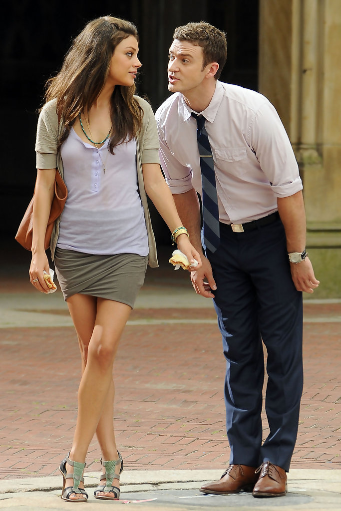 Justin Timberlake Amp Mila Kunis On Set Of Quot Friends With