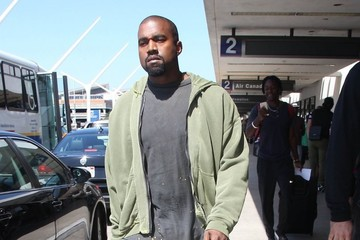 Kanye West Kanye West Touches Down at LAX