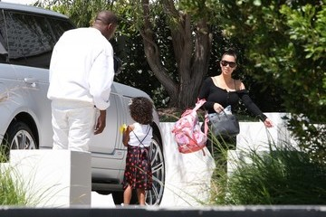 Kanye West Kim Kardashian and Kanye West Visit a Friend's House in Brentwood
