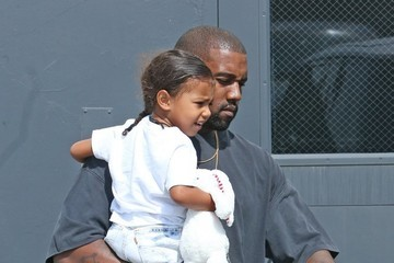 Kanye West North West Kanye West and Kourtney Kardashian Take Their Children to a Party in Los Angeles