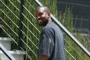 Kanye West Visits A Friend In Hollywood Hills