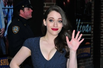 Kat Dennings Celebs Stop by the 'Late Show With David Letterman'