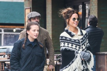 Kate Beckinsale Lily Mo Sheen Kate Beckinsale Goes Out with Daughter Lily Mo Sheen and Ex Michael Sheen in NYC