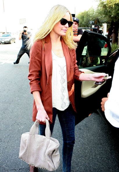 Actress Kate Bosworth leaving Doughboys Cafe & Bakery after a quick lunch in West Hollywood, CA.