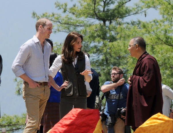 Prince William and Kate Middleton Attend a Welcoming Ceremony in Bhutan