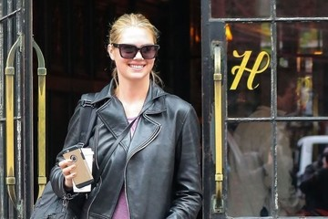 Kate Upton Newly Engaged Kate Upton Is Seen Leaving the Bowery Hotel