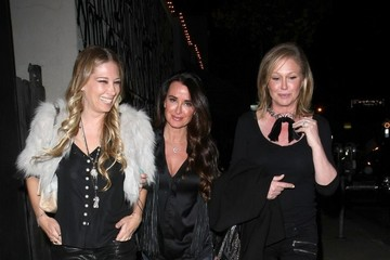 Kathy Hilton Celebrities Dine Out At Craig's Restaurant