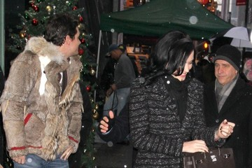 Katy Perry John Mayer Katy Perry and John Mayer Brave the Snow in NYC