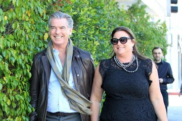 Keely Shaye Smith Pierce Brosnan And Keely Shaye Smith Dine Out At Ebaldi