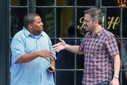 Kenan Thompson and Marc Maron Leaving the Bowery Hotel