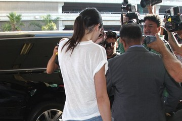 Kendall Jenner Kendall Jenner Arriving On A Flight At LAX
