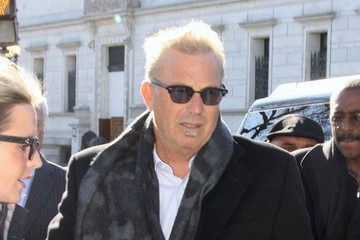 Kevin Costner Celebrities At The White House In Washington DC