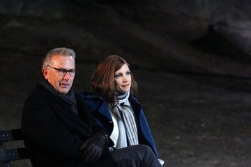 Kevin Costner Jessica Chastain And Kevin Costner Film 'Molly's Game' In NYC