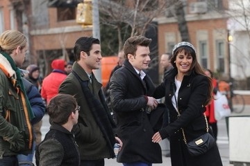 Kevin McHale Darren Criss 'Glee' Films at Washington Square Park