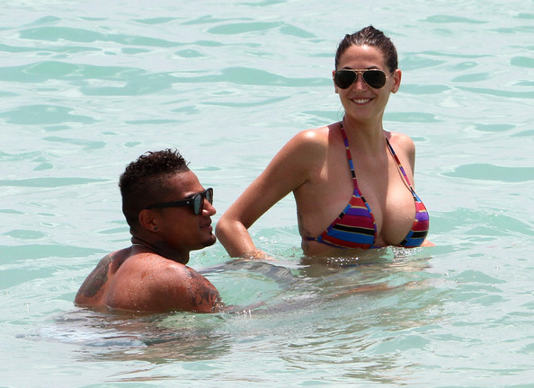 Kevin-Prince Boateng with hot, Girlfriend Melissa Satta