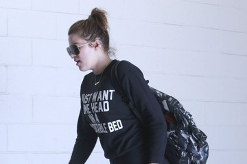 Khloe Kardashian Khloe Kardashian Hits The Gym