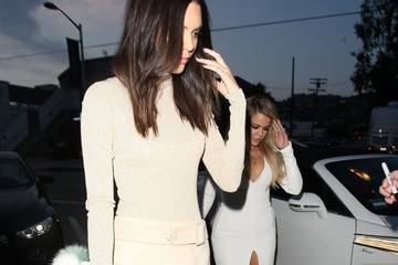 Khloe Kardashian Celebrities Out For Dinner At Craig's
