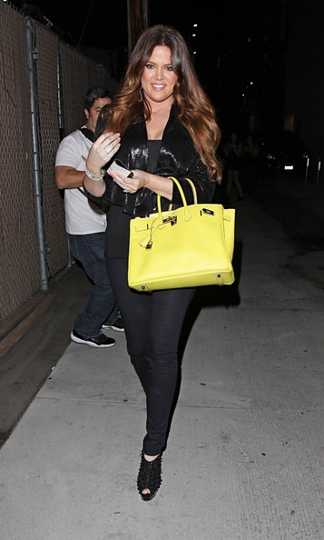 Khloe Kardashian Reality TV star Khloe Kardashian leaving Jimmy Kimmel Live in Hollywood, CA.