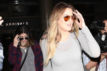 Khloe Kardashian The Kardashians Arrive at LAX