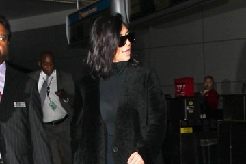 Kim Kardashian Kim Kardashian Touches Down At LAX