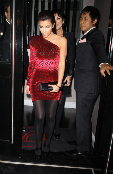 Reality star Kim Kardashian celebrates her 29th birthday with family and friends at Phillipe Chow in West Hollywood.