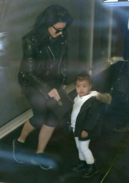 Kim & Kanye Outside Their Apartment In NYC