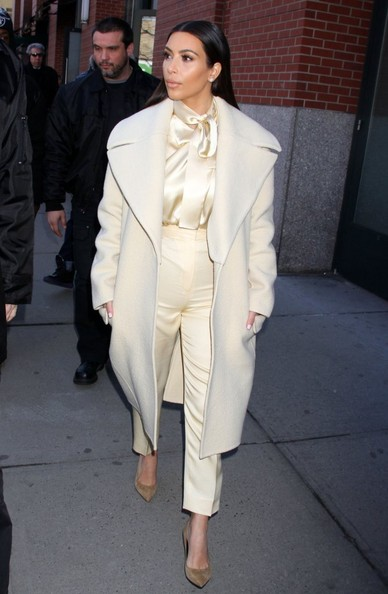 Reality star Kim Kardashian steps out in New York City, New York.